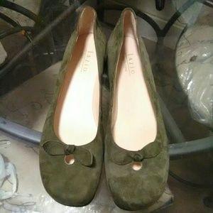 Lazio Leather Suede Flats